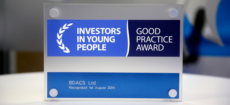 B-DACS Receives Investors in Young People Award